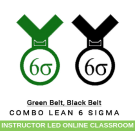 Combo Lean Six Sigma Green Belt Black Belt-Instructor-Led-Online-Classroom-MSysTraining