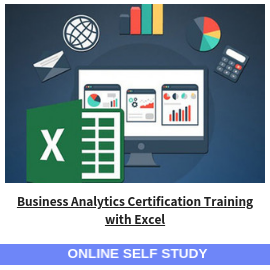 Business Analytics Certification Training with Excel-Online-Self-Study