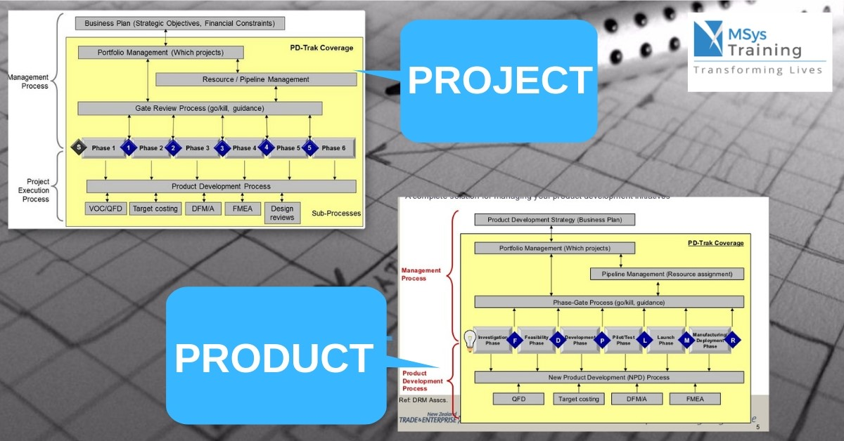 Difference between product and project