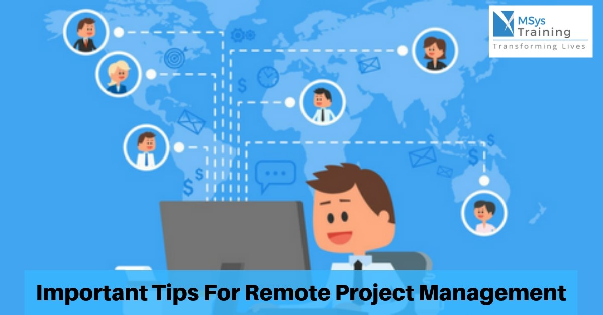 important tips for remote project manager