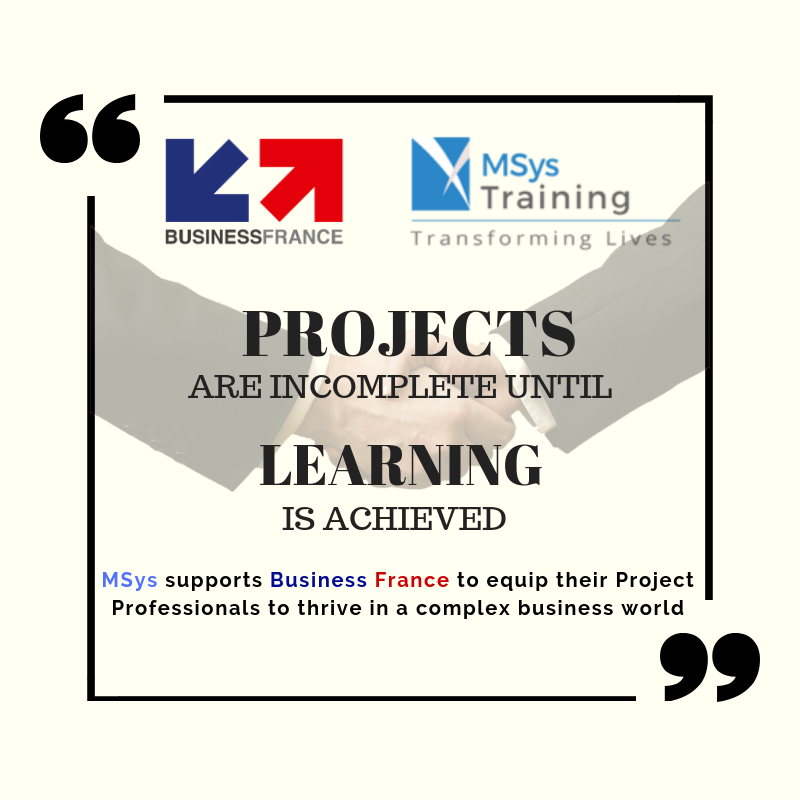 MSys Supports Business France To Equip Their Project Professionals