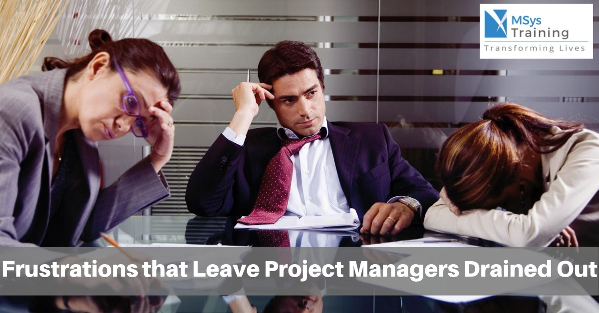 frustrations on project manager