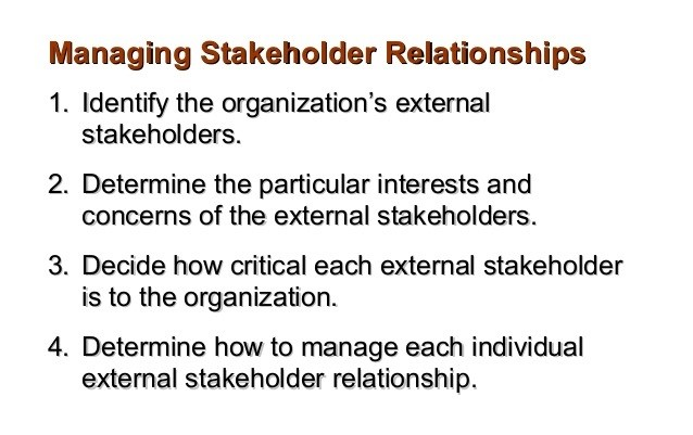 managing stakeholders relationships