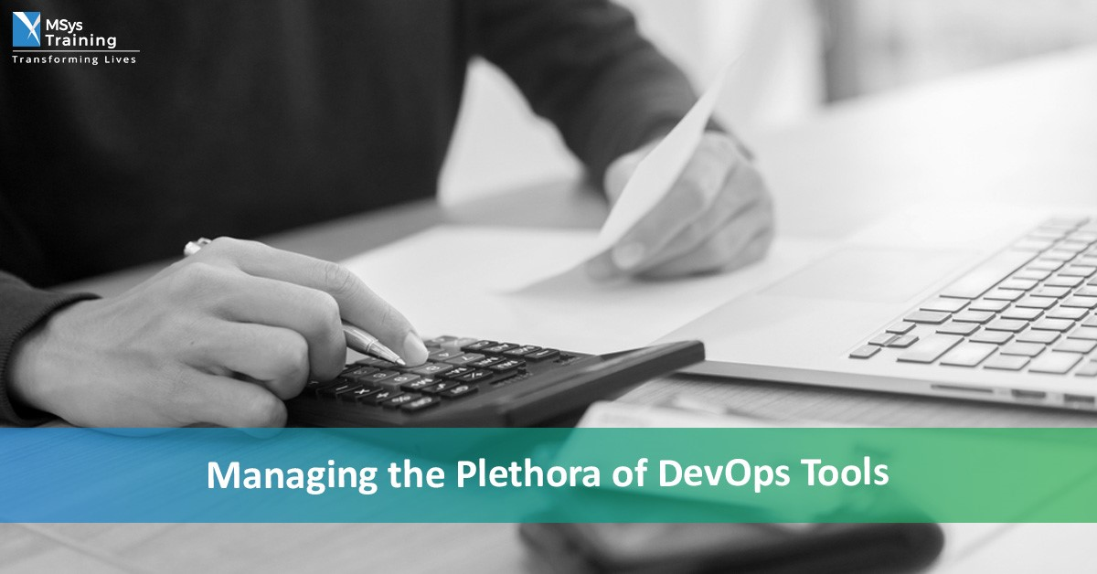 managing the plethora of devops tools