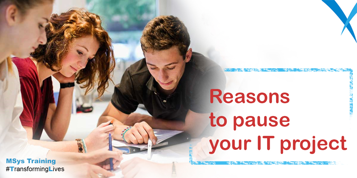 Reasons to pause your IT project