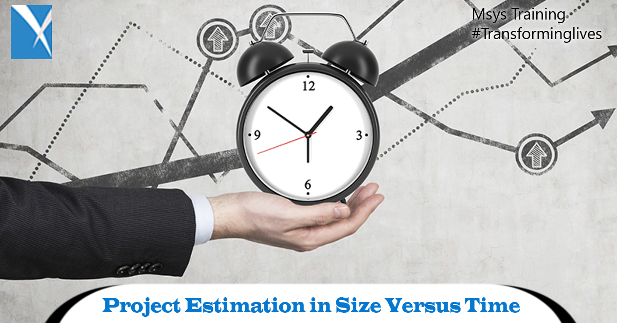 Project Estimation in Size Versus Time